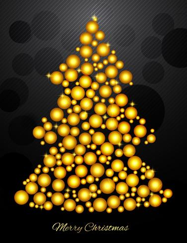 Christmas Tree With Small Gold Balls