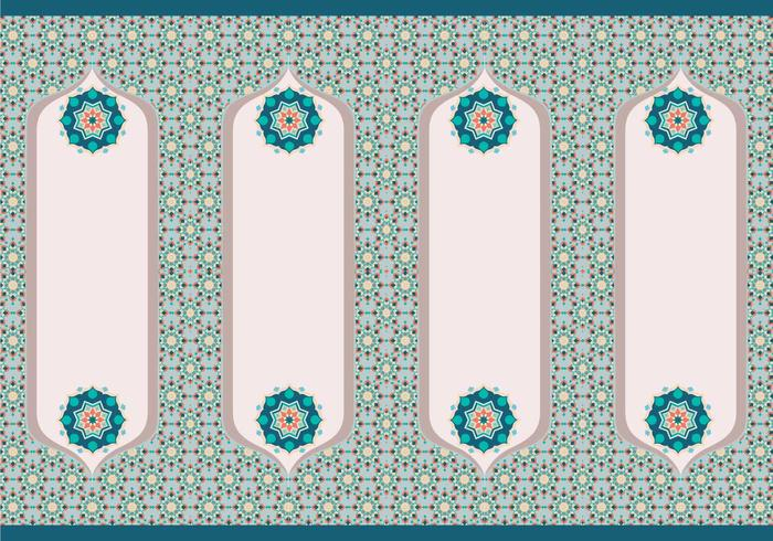 Vecteur de frontière islamique vol 2