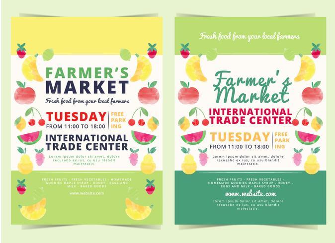 Vector Farmers Market Flyer