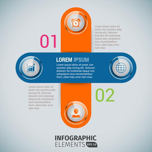 Cross Business Infographics Template