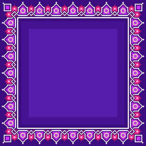 Islamische Grenze mit Purple Background Vector