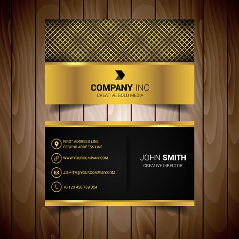 Gold abstract business card download vetores e grficos gratuitos gold abstract business card reheart Choice Image