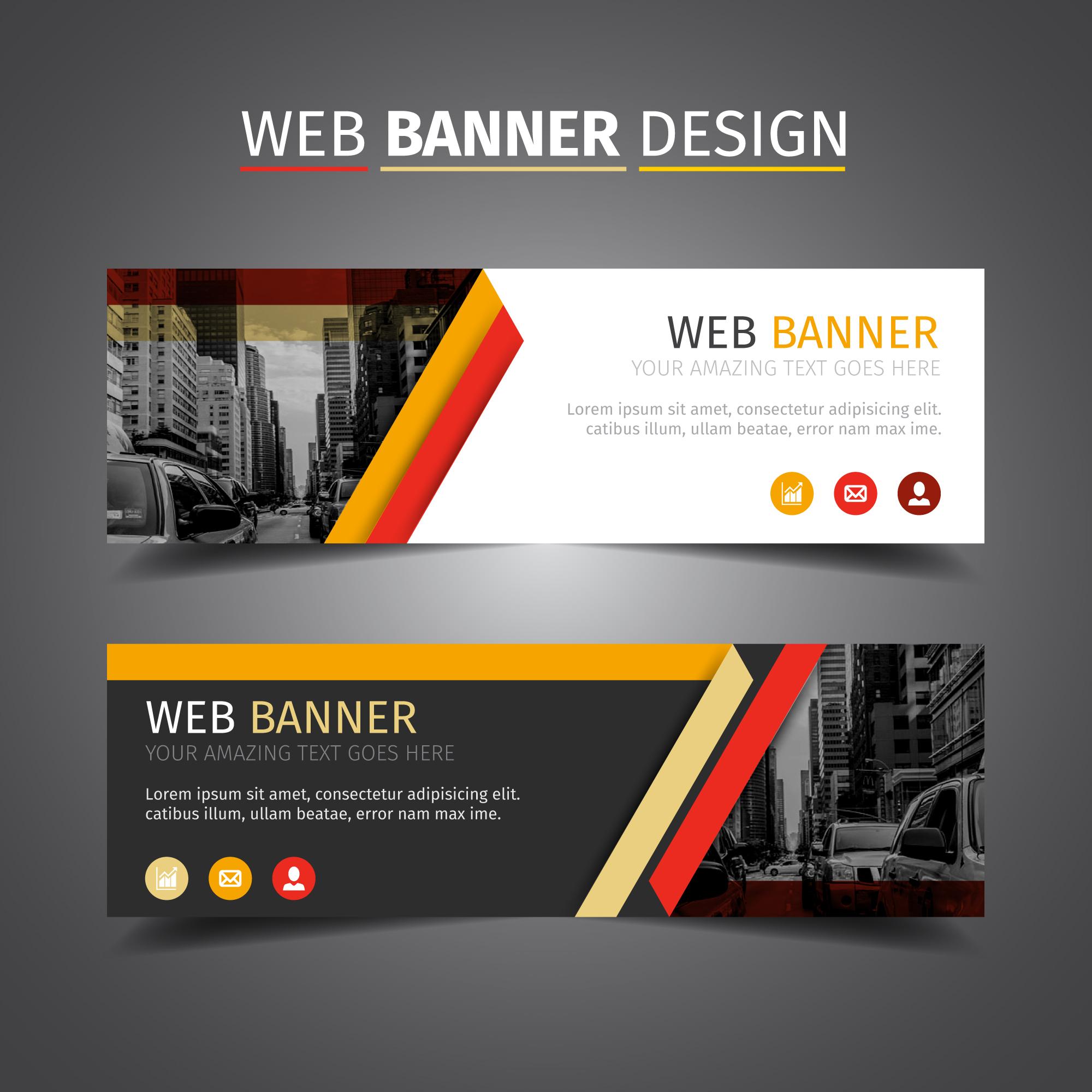 yellow creative header design
