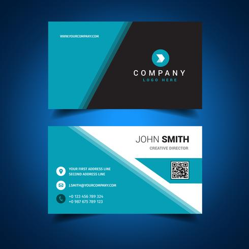 Blue Cool Business Card