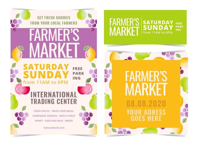 Vector Farmer's Market Flyers
