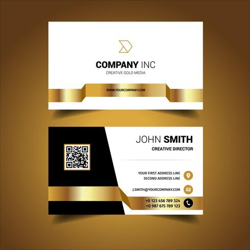 Black And Gold Light Business Card