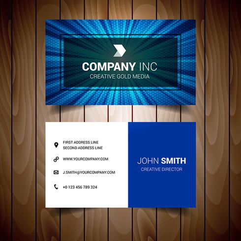 Blue Lighted Elegant Business Card
