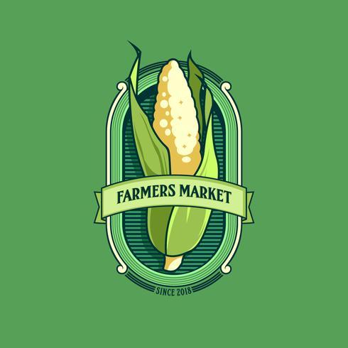 vector de logo de mercado de agricultores
