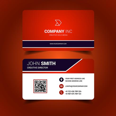 Bright Red Business Card