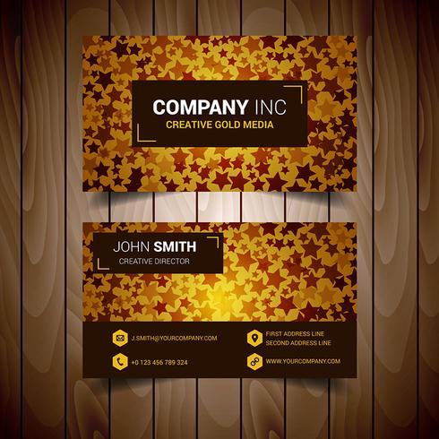 Stared Golden Premium Abstract Business Card