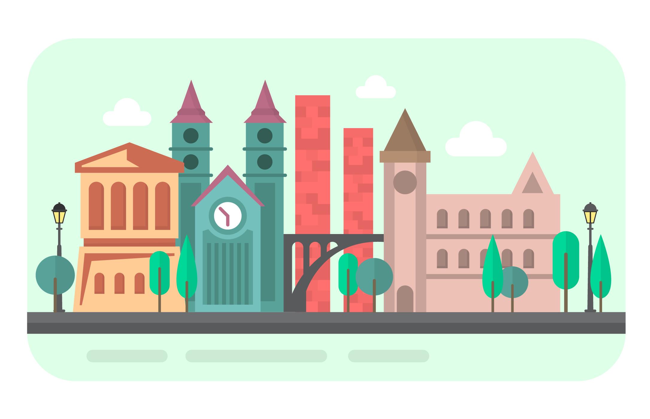 城市插畫 免費下載 | 天天瘋後製