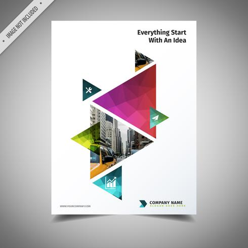 Colored Triangle Brochure Design
