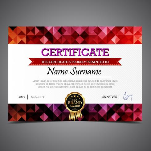 Colorful Certificate Template - Download Free Vector Art ...