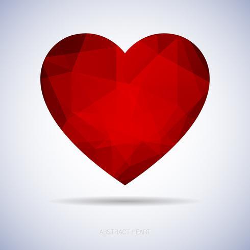 Abstract hart met driehoeken