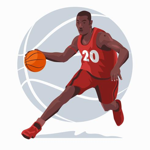 Basketballspelare Illustration