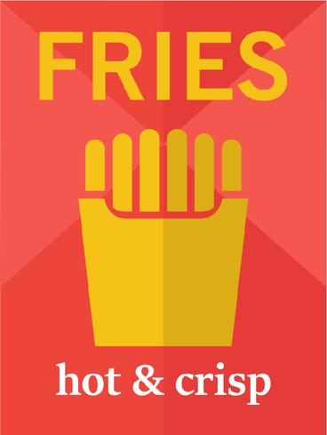 Fries Poster Design Template