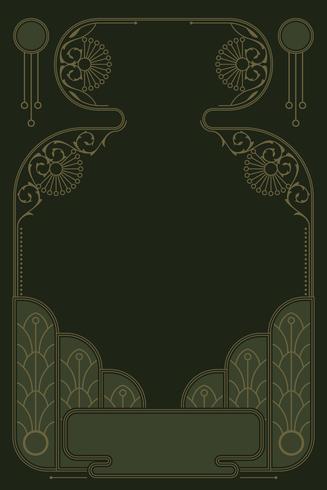vector de marco romántico art nouveau