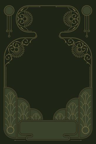 Romantische art nouveau frame vector