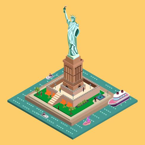 Liberty Statue Isometric