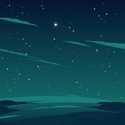 Cosmos Star In The Night Vector