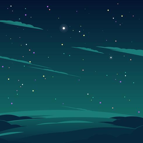 cosmos estrela no vetor noturno