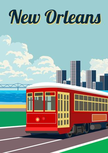 New Orleans Streetcar Illustration