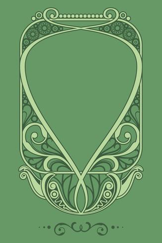 Vecteur de cadre Art Nouveau naturel