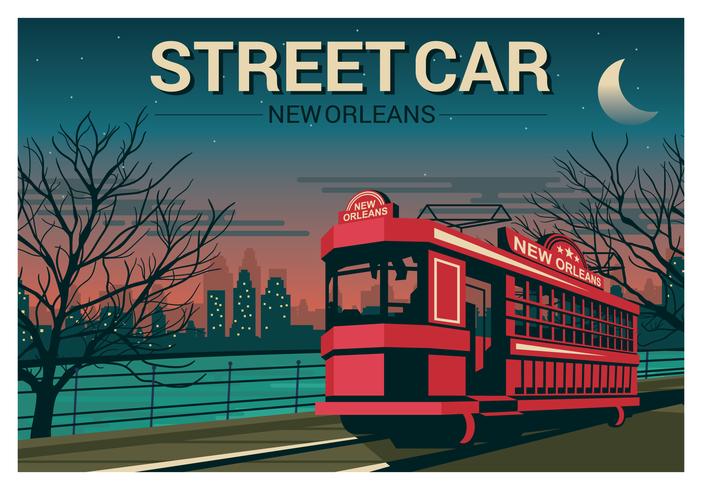 Ilustración del tranvía de Nueva Orleans