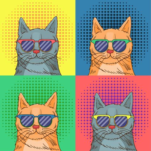 Glasses Cat Pop Art