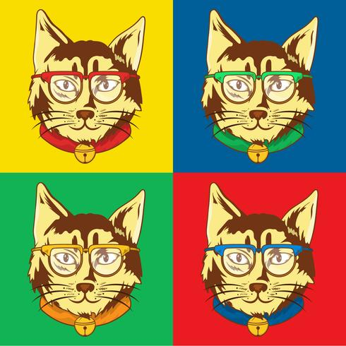 Cat Pop Art Illustration