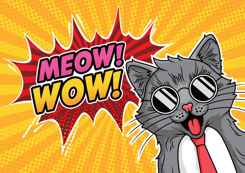 поп-арт картинки кошки