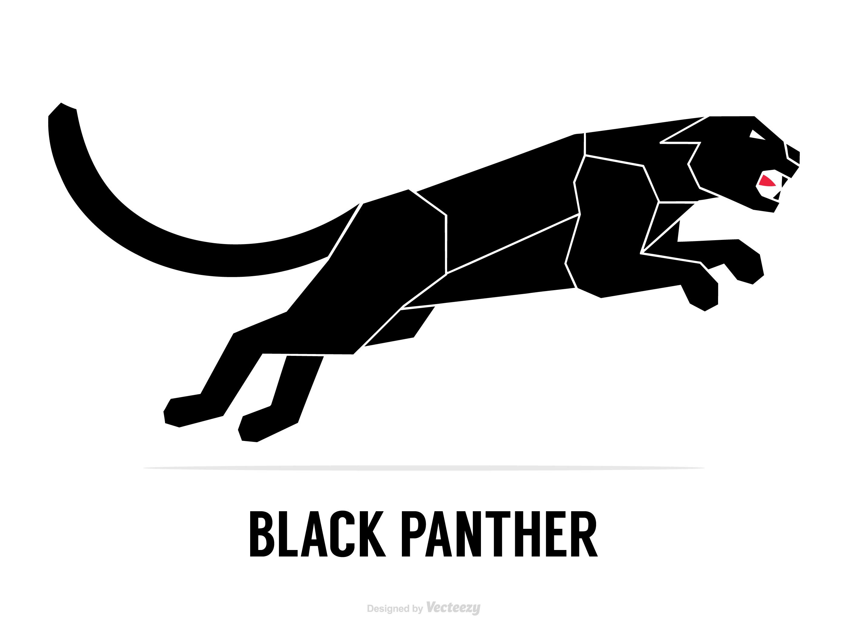 Silueta Abstracta De Un Vector De Pantera Negra