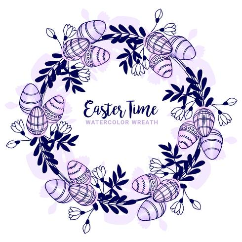 Vector Easter Wreath