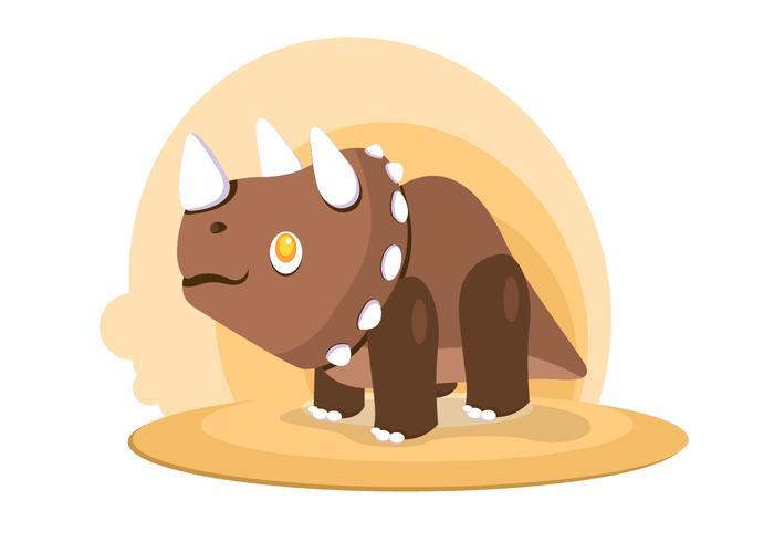 Dinossauro Triceratops Vector