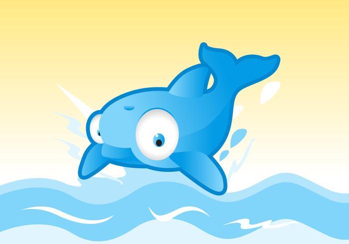 Vecteur mignon de dauphin
