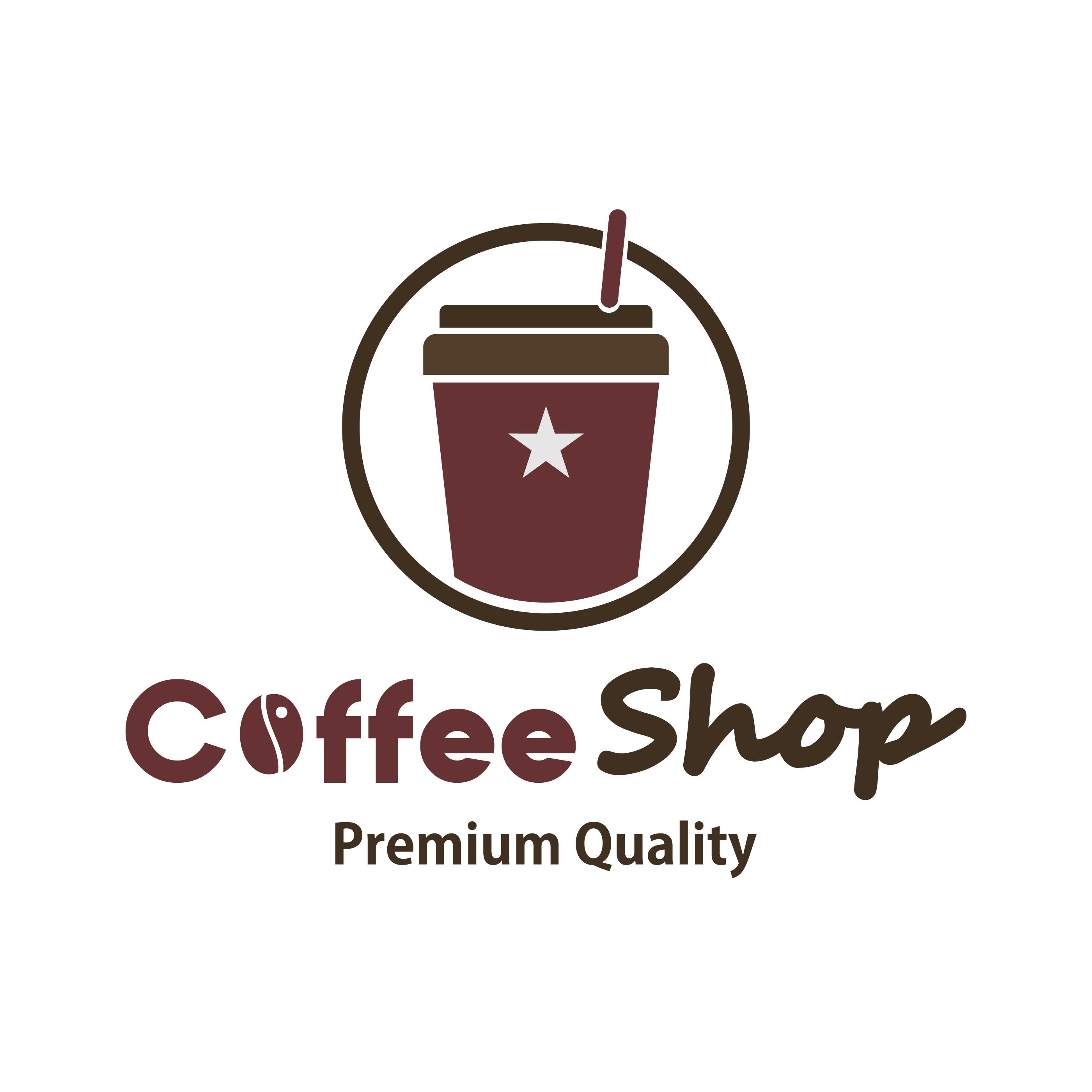 Restaurant Logo Editorial Template: Coffee Shop Logo Template