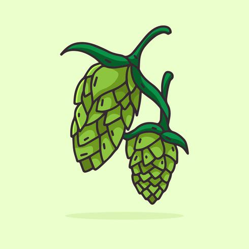 Hop Plant line illustration