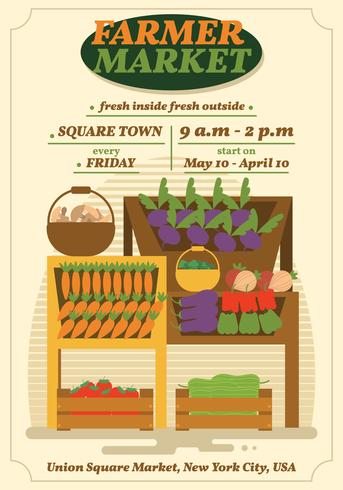 Farmers Market Poster Template Best Farmer 2018