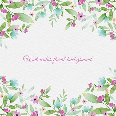 Fondo floral de la acuarela del vector
