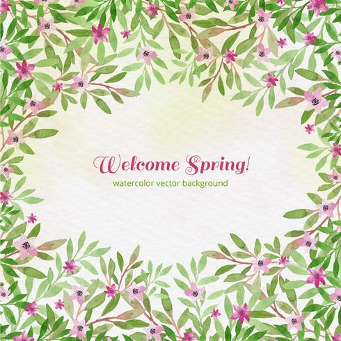 Vector Watercolor Spring Background