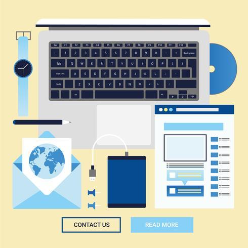 Elementos e acessórios do Vector Office