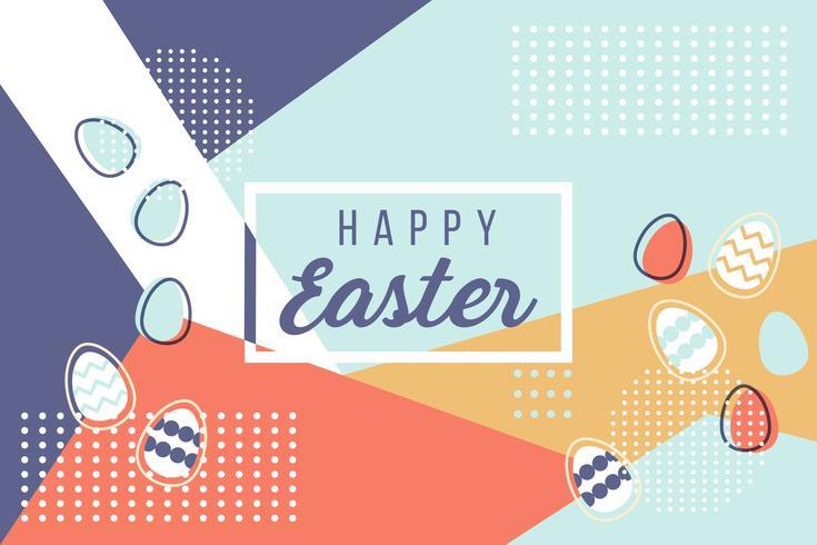 Happy Easter Memphis Vector