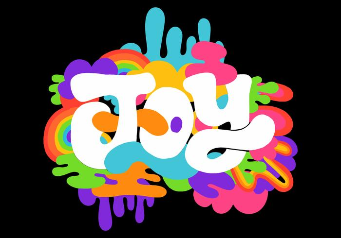 colorful retro joy lettering