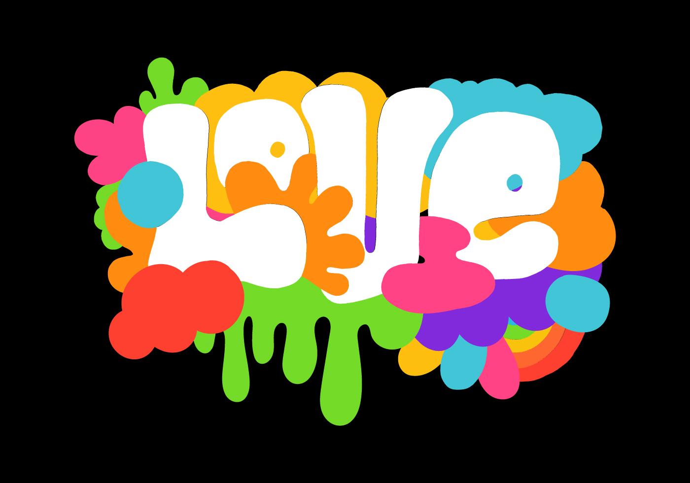colorful retro love lettering - Download Free Vectors ...