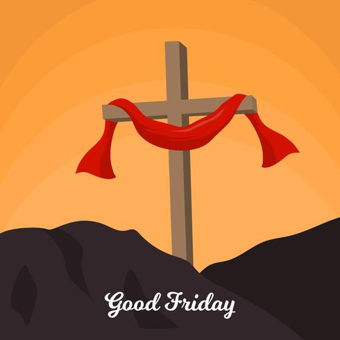 Flat Good Friday Vector Background