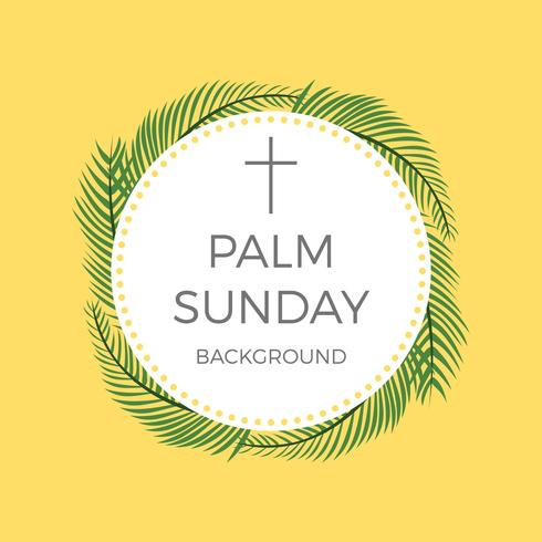 Flat Palm Sunday Vector Background
