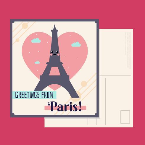 Vector de la postal de París