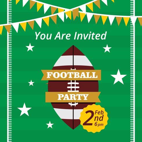 Voetbal partij Vector uitnodiging