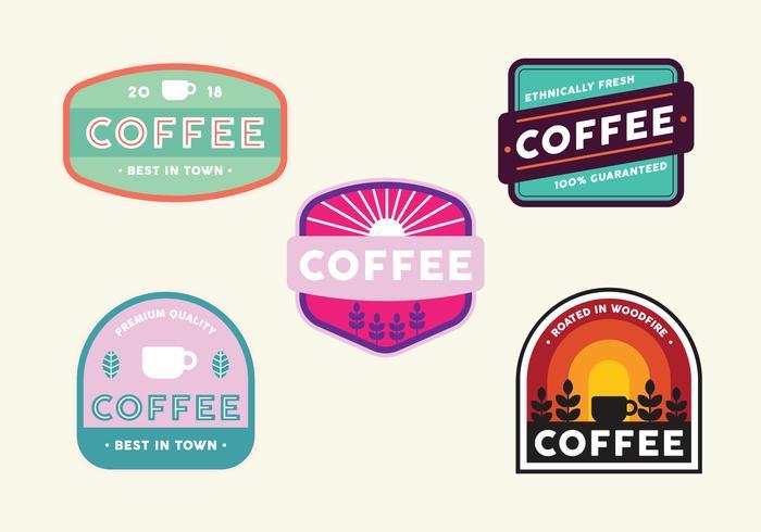 Vintage Coffee Badge Set