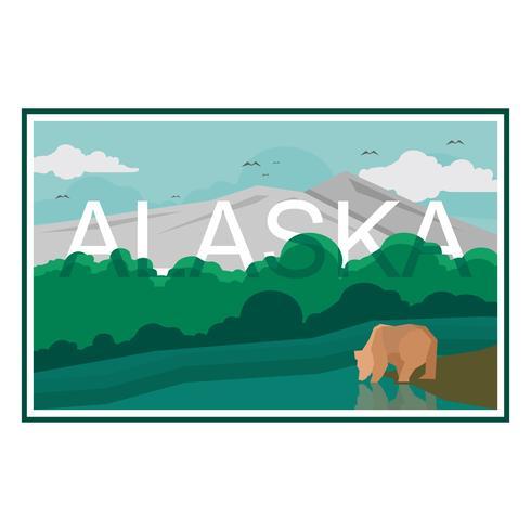 Carte postale de l'Alaska